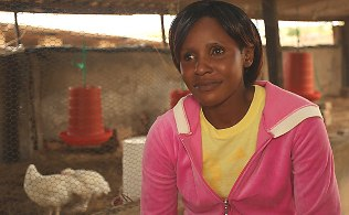 A picture of a young woman from Zimbabwe Sub-Saharan Africa