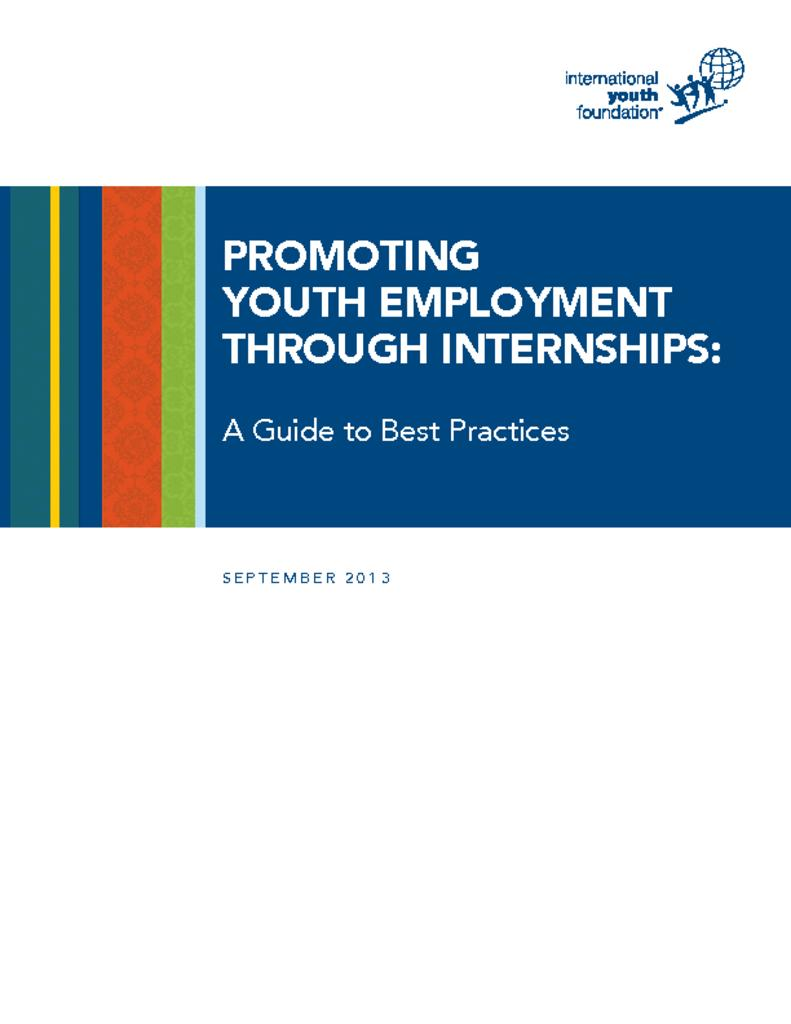 promoting youth employment through internships a guide to best back to library