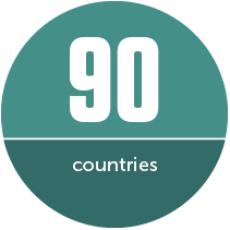 90 countries