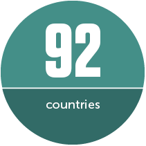 YouthActionNet fellows are young leaders from 92 countries.