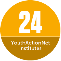 Globally, there have been 24 national and regional YouthActionNet institutes, to foster youth leadership.